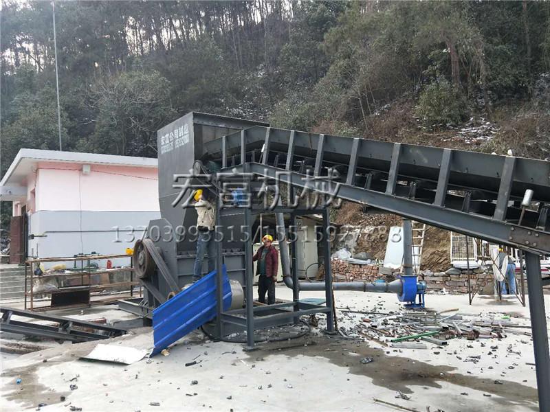 shan西安康废铁破碎机货到安装